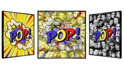Pop! by Patrick Rubinstein - Kinetic Edition sized 27x27 inches. Available from Whitewall Galleries